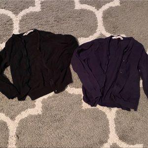 Black and navy H&M cardigans Girls 2-4 yrs toddler
